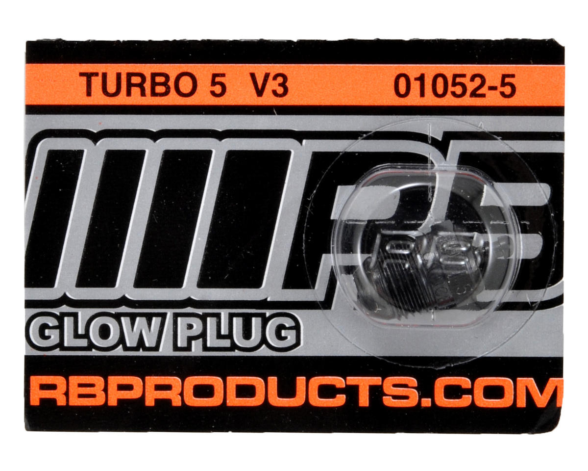 "RB Products ""Turbo"" #5 V3 Glow Plug (Hot) (1)"