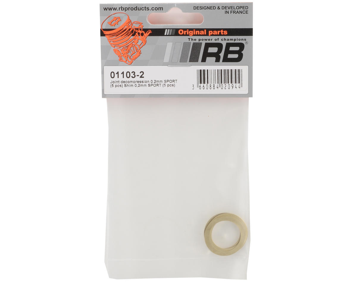RB Products 0.2mm Head Shims (5)