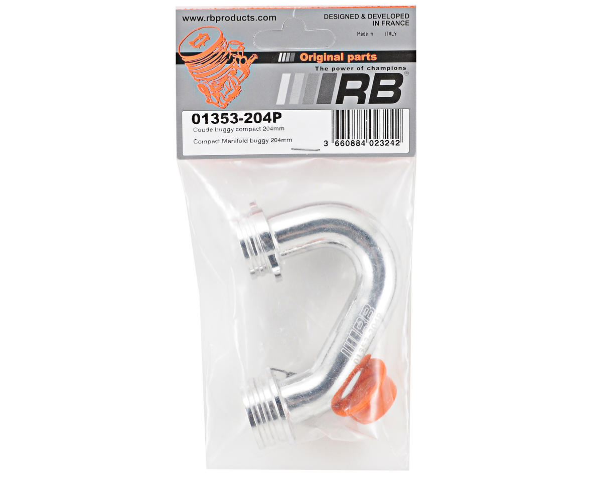 RB Products 204mm In-Line Compact Off-Road Exhaust Manifold (Polished)