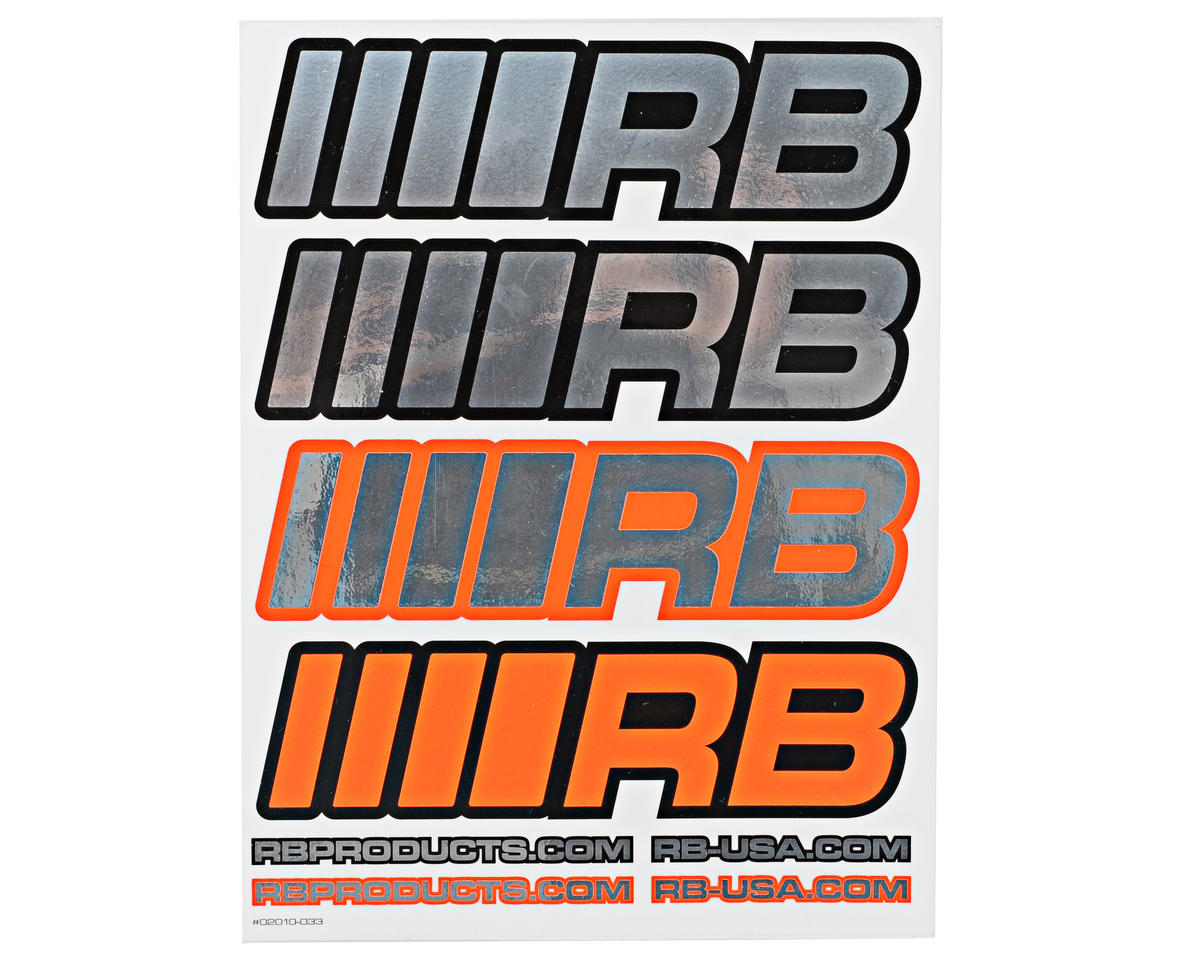 RB Products Large 20x16 2010 Sticker Sheet (Chrome)