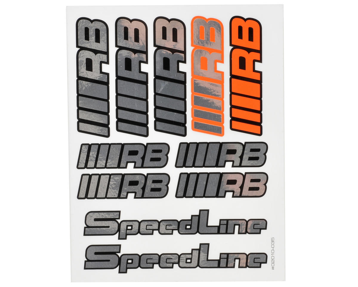 RB Products Small 135x100 Speedline 2010 Sticker Sheet (Chrome)