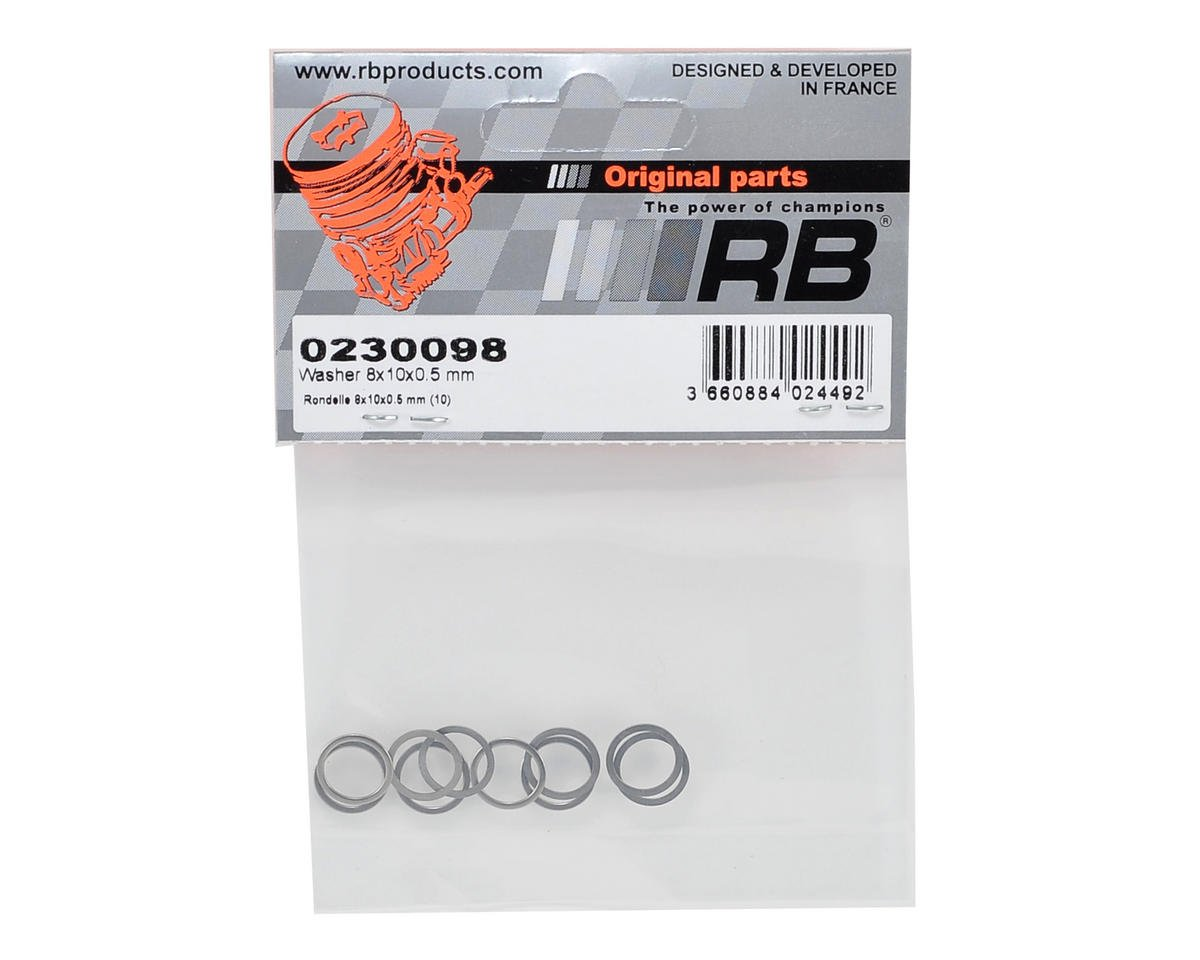 RB Products 8x10x0.5mm Washer (10)
