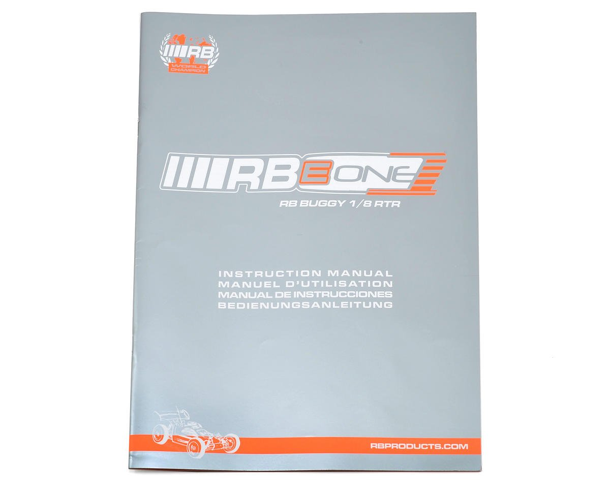 RB Products RB E One Instruction Manual