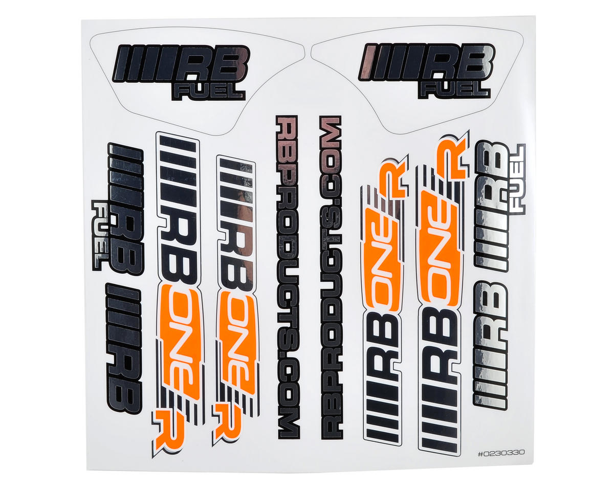 RB Products RB One R Sticker Sheet