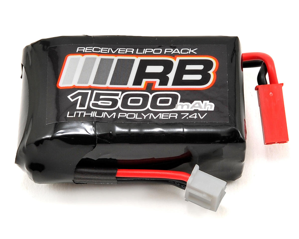 RB Products Micro Size Lipo Receiver Pack (7.4V/1500mAh) (JST)