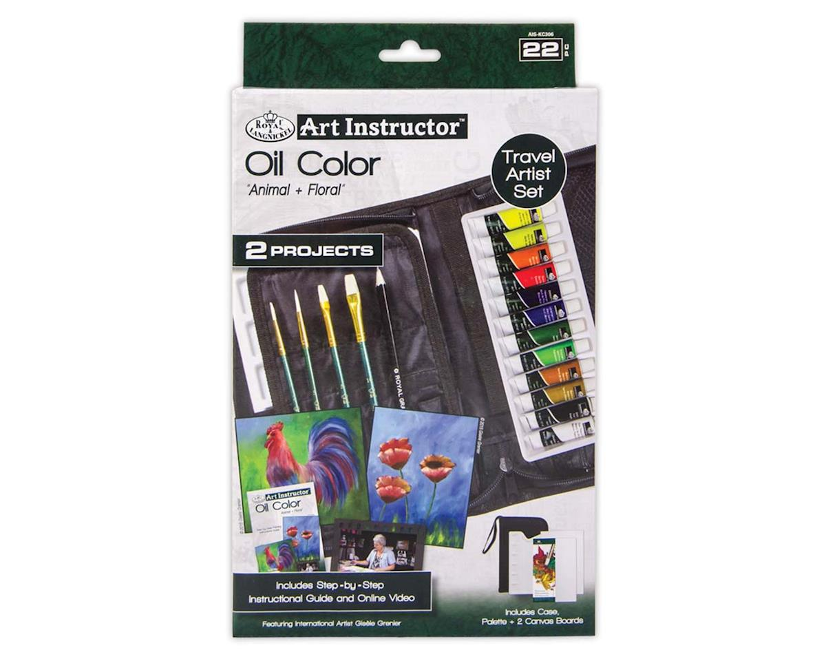 AIS-KC306 Oil Color Paint Travel Kit w/2 Projects by Royal Brush Manufacturing