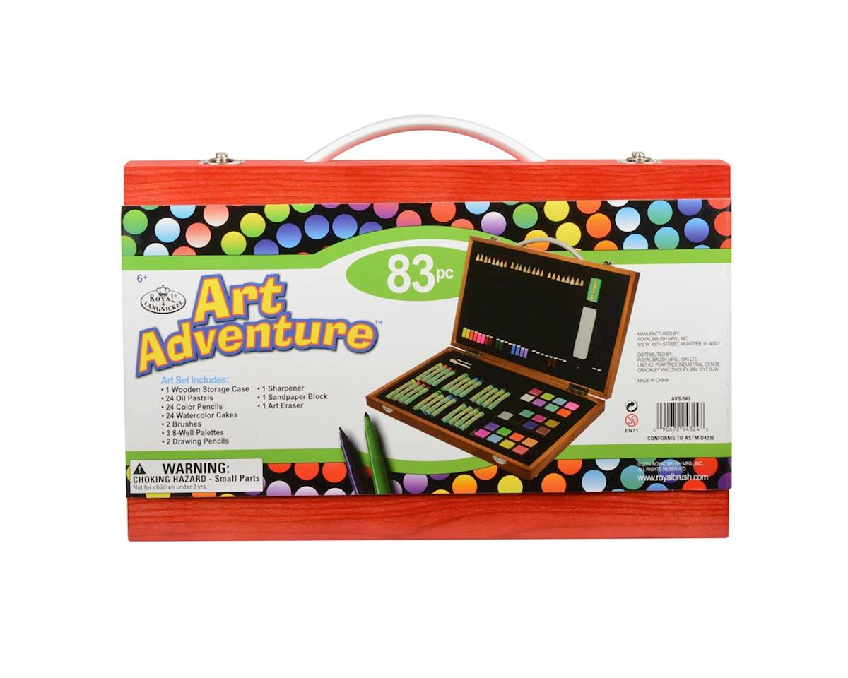 AVS-543 Art Adventure 83pc Set by Royal Brush Manufacturing