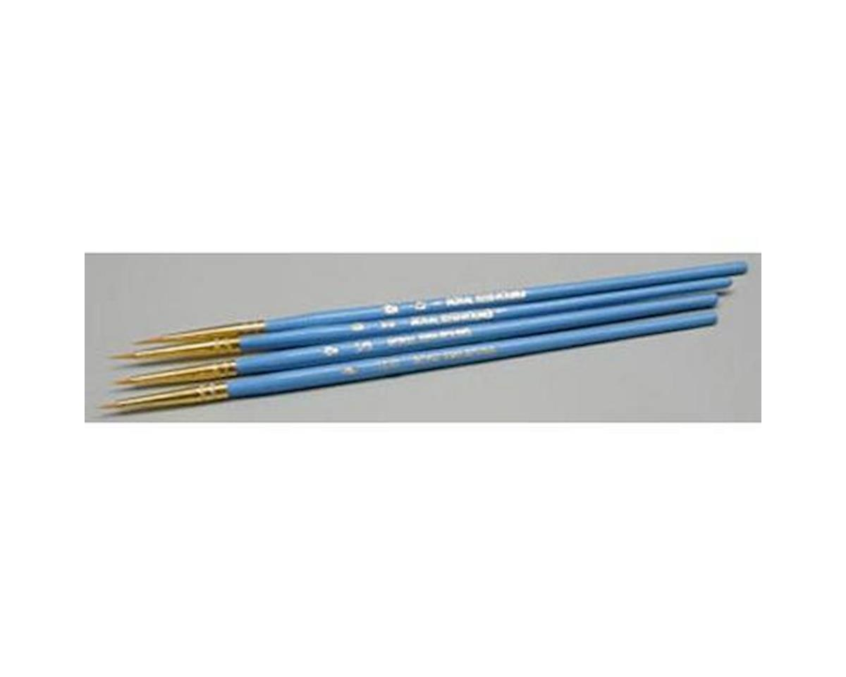 Royal Brush Manufacturing Gold Nylon Shader TL 10/5/3/0 (4)