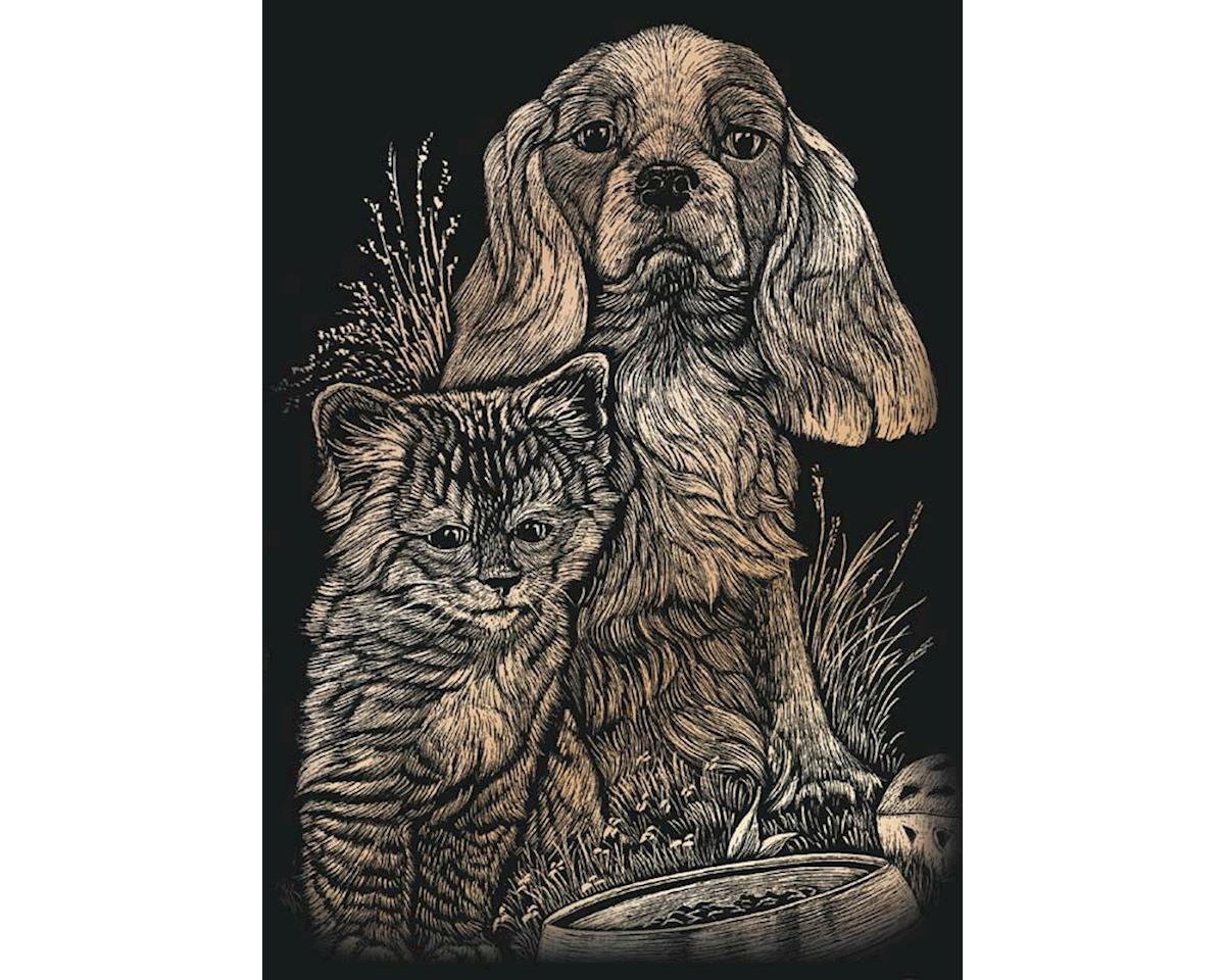 Royal Brush  Copper Foil Engraving Art Kitten & Puppy by Royal Brush Manufacturing