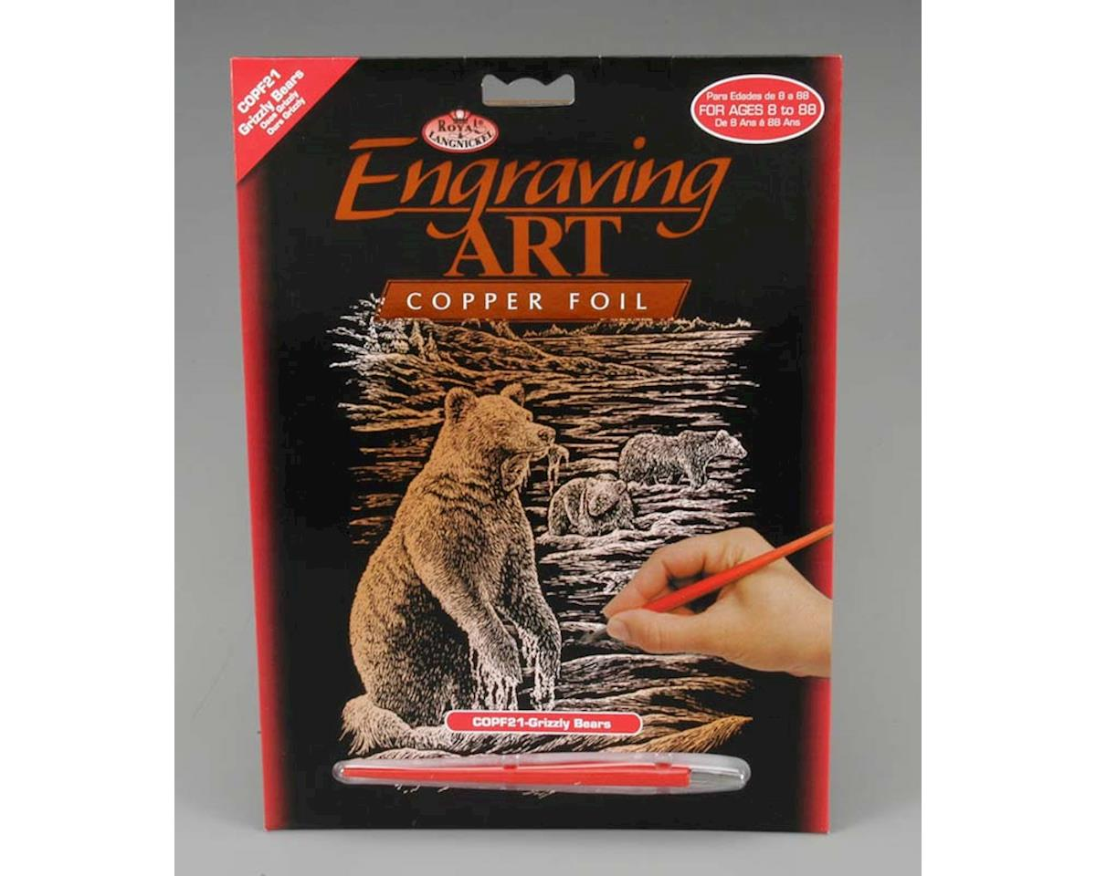 COPF21 Copper Foil Grizzly Bears by Royal Brush Manufacturing