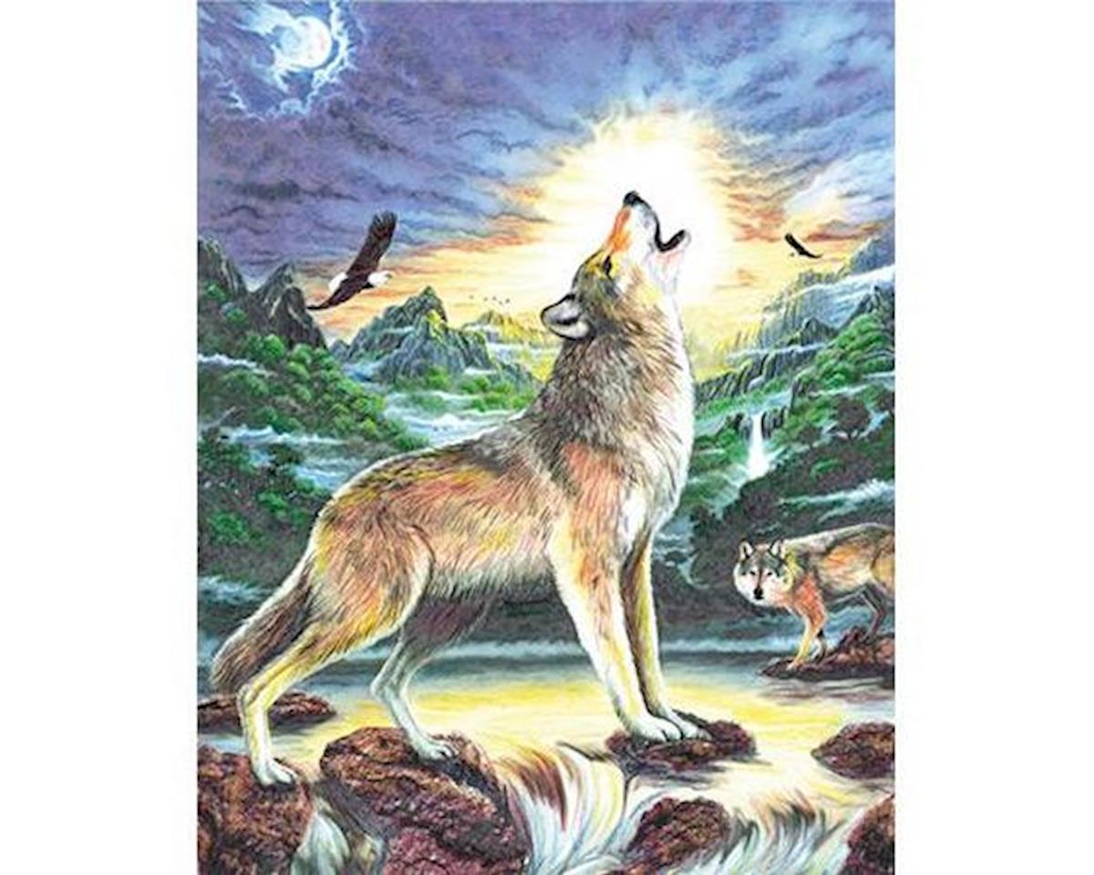 Brush  Colour Pencil By Number Wolves By Stream by Royal Brush Manufacturing