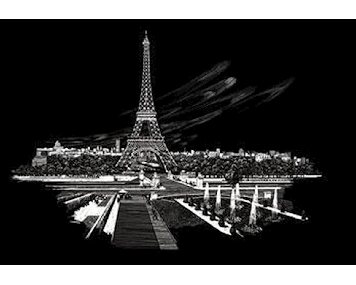 Royal Brush Manufacturing Silver Foil Engraving Art Eiffel Tower