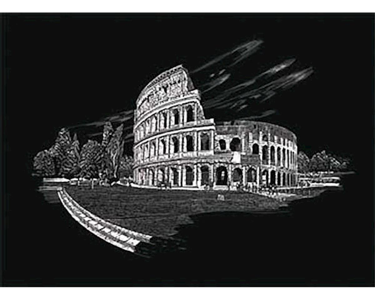 Royal Brush Manufacturing FAM5 Silver Foil Engraving Art Colosseum