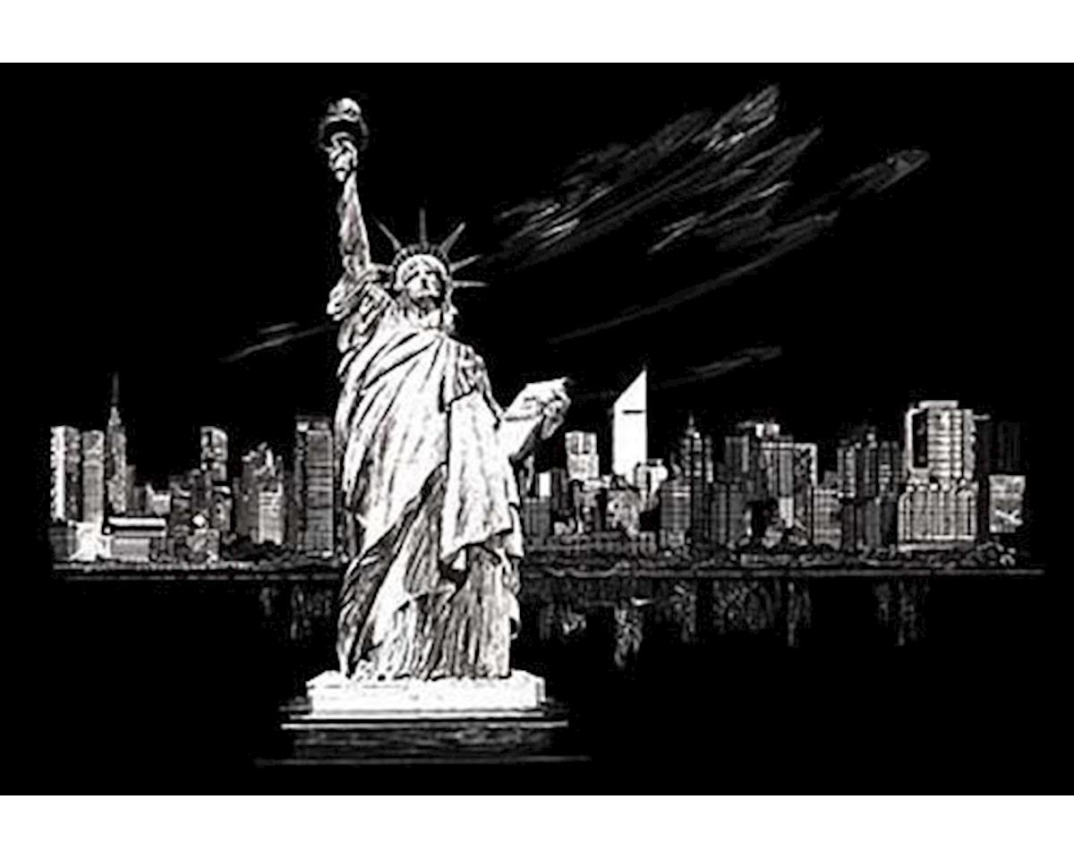 Royal Brush Manufacturing Royal Brush  Silver Foil Engraving Art Statue Of Liberty