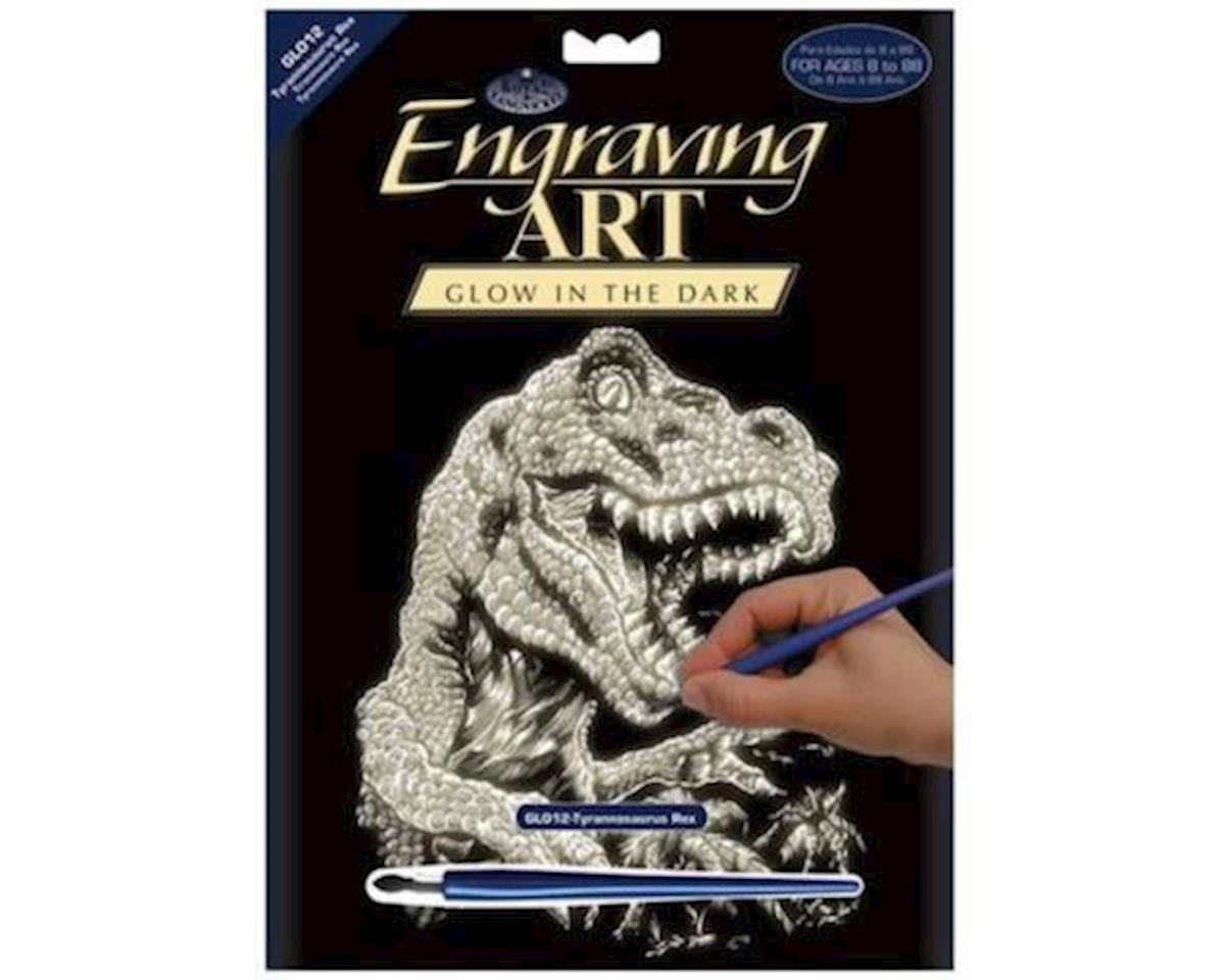 Royal Brush Manufacturing Royal Brush  Glow-In-The-Dark Foil Engraving T-Rex
