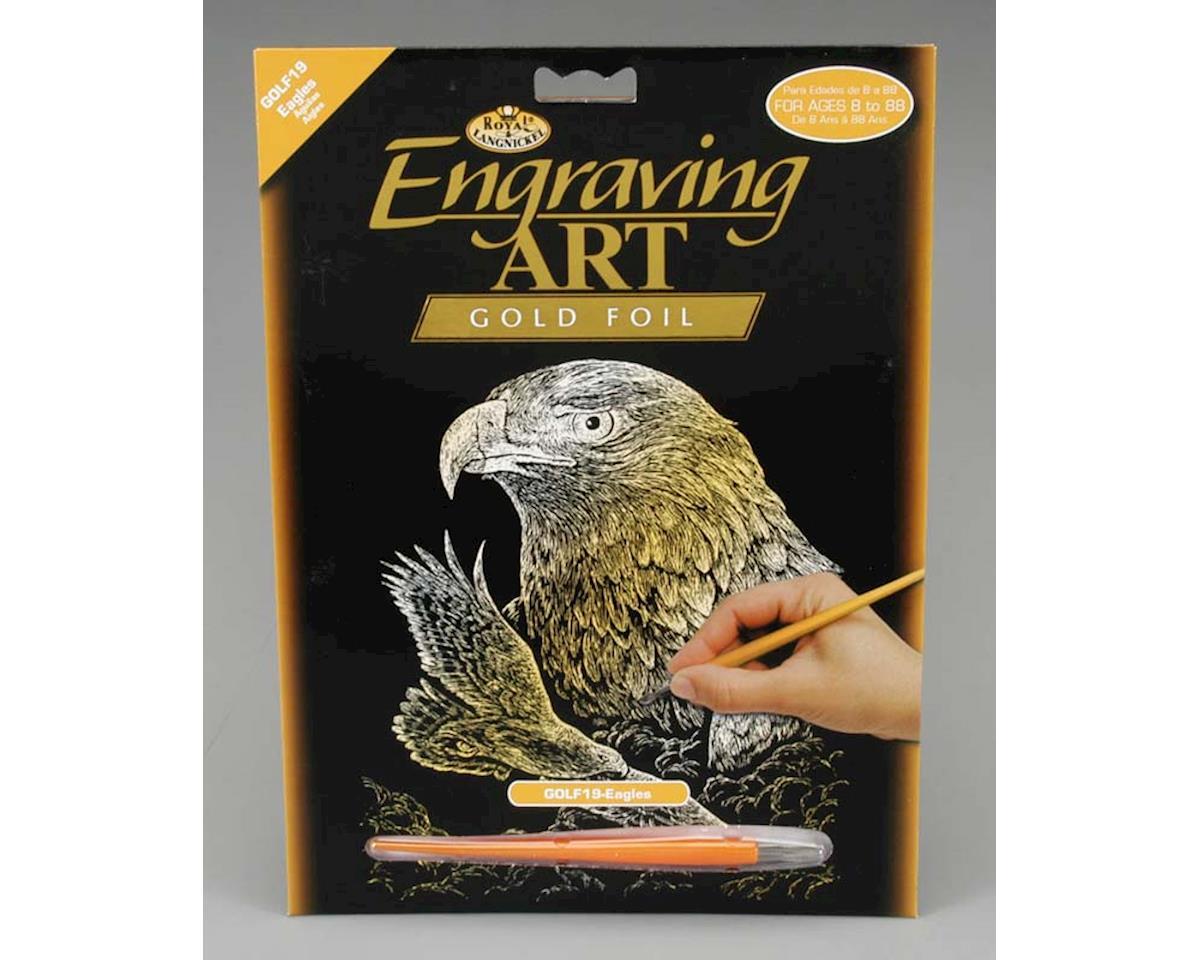 Royal Brush Manufacturing Royal Brush  Gold Foil Engraving Art Eagles