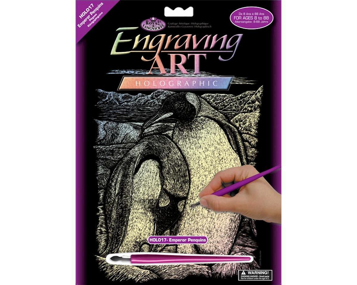 Royal Brush Manufacturing  Holographic Engraving Emporor Penguins