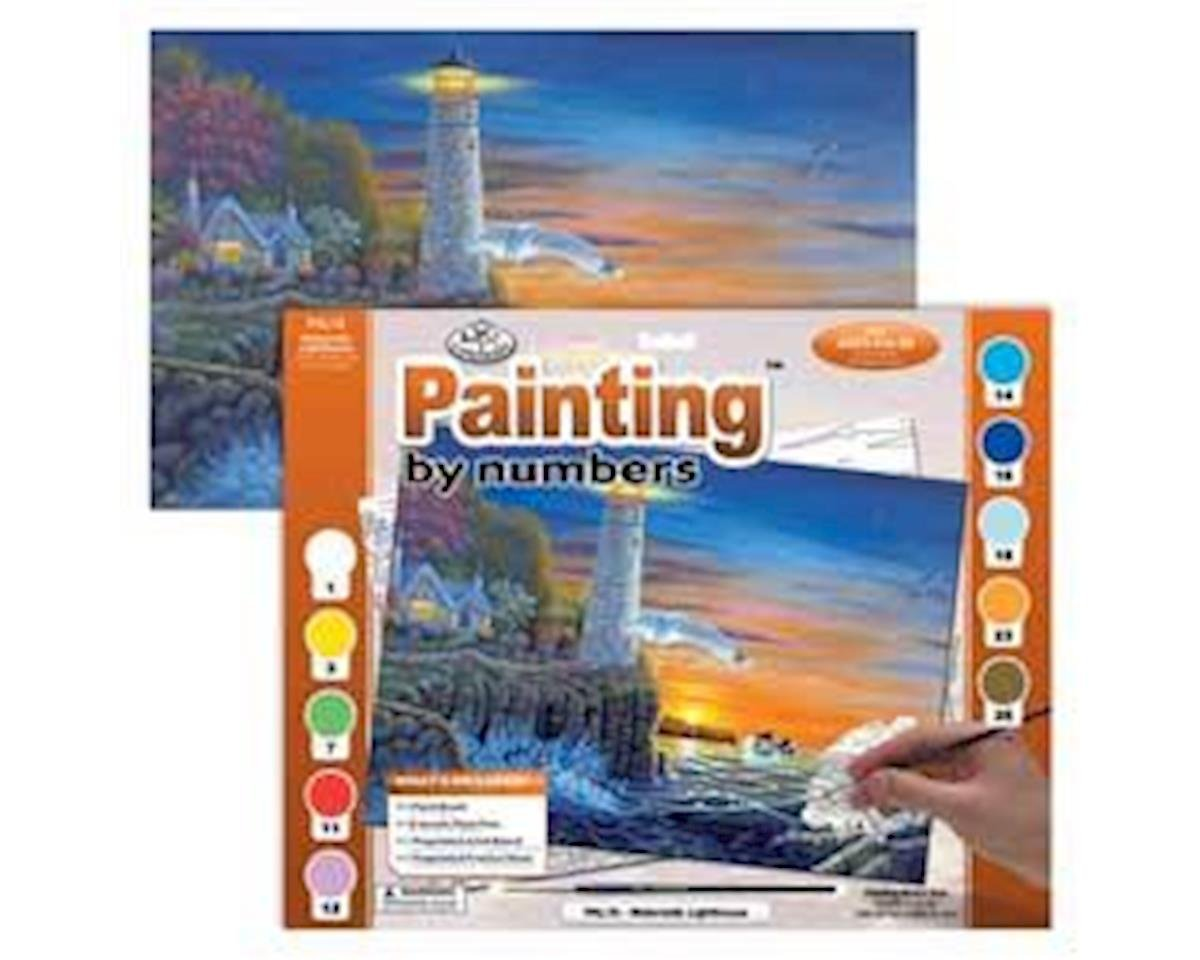 Brush  Adult Paint-By-Numbers Waterside Lighthouse by Royal Brush Manufacturing