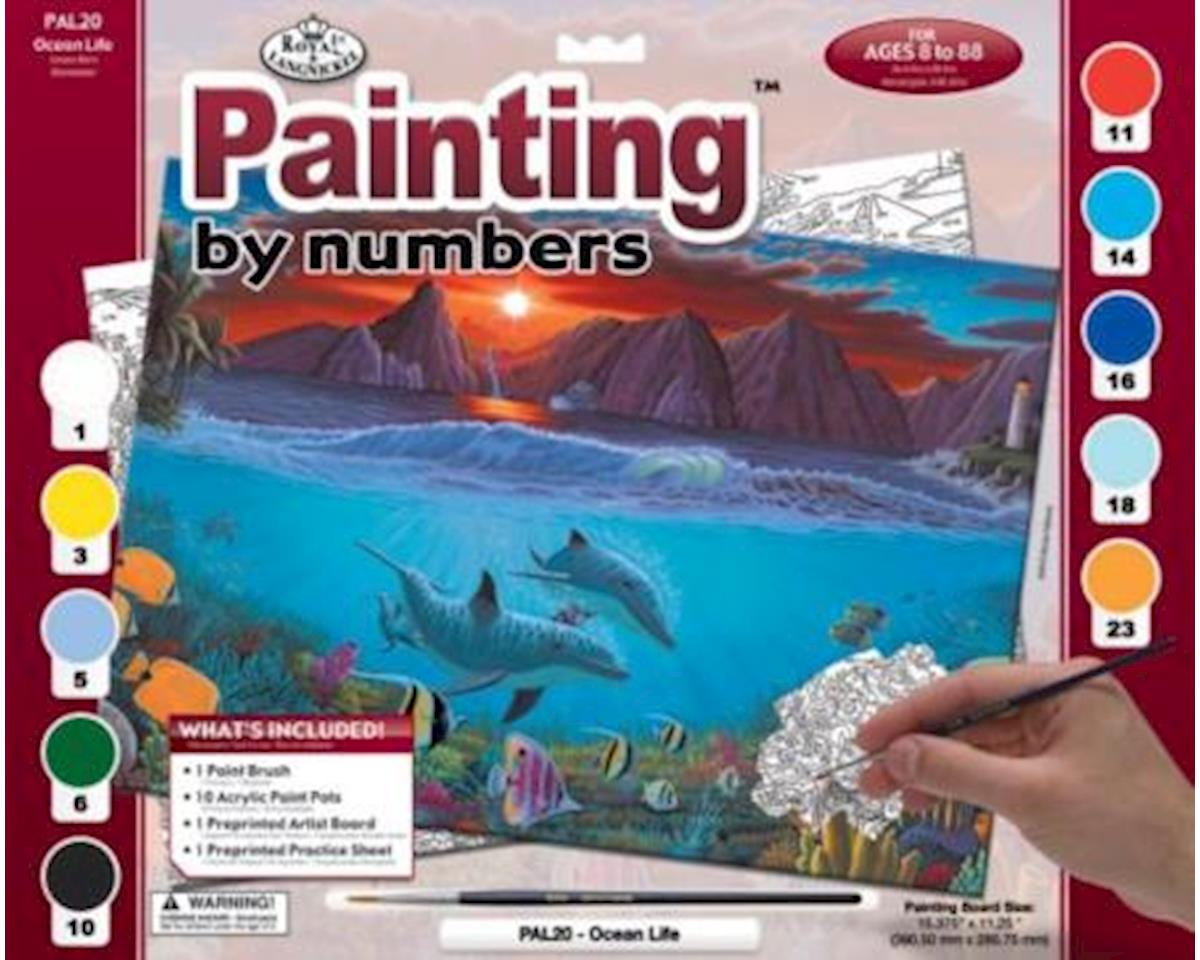 Royal Brush Manufacturing Brush  Adult Paint-By-Numbers Ocean Life