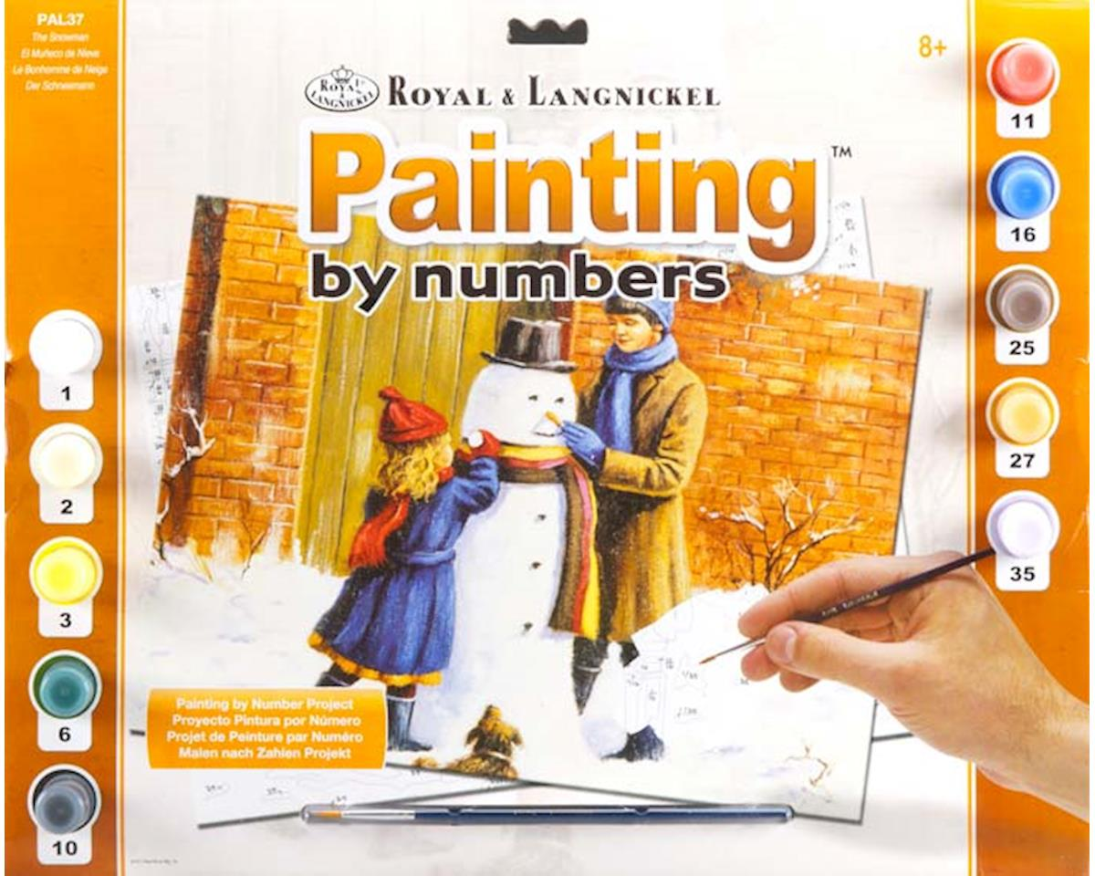 PAL37 Adult PBN The Snowman by Royal Brush Manufacturing