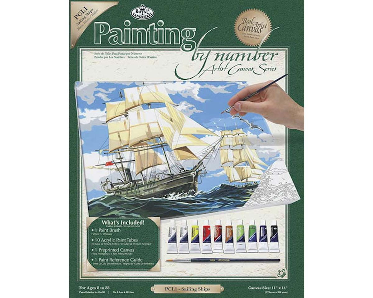 Royal Brush  Paint By Number Canvas Sailing Ships by Royal Brush Manufacturing