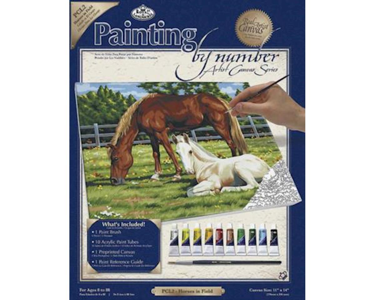 Royal Brush Manufacturing PBN Canvas Horses 11X14