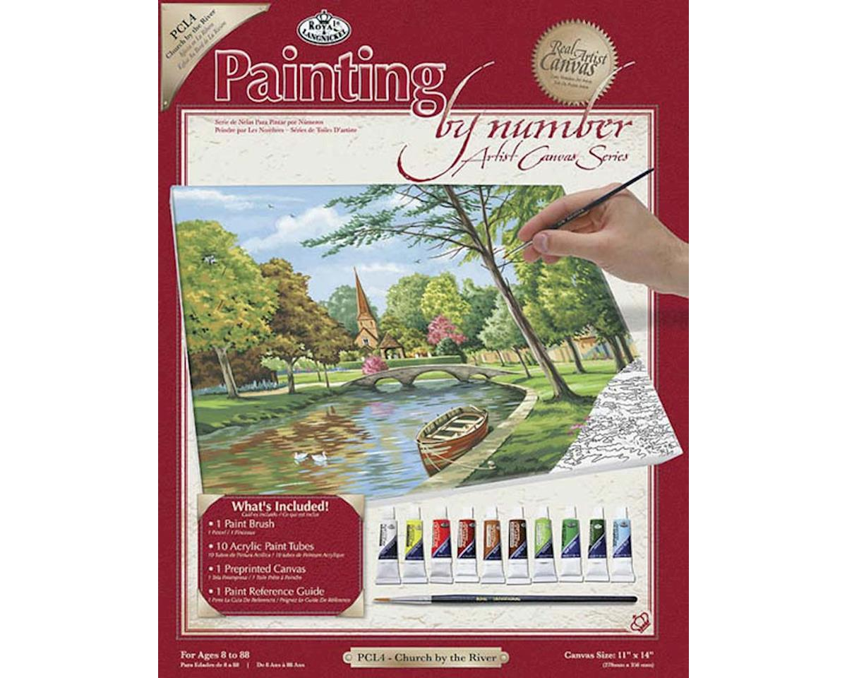 Royal Brush Manufacturing PCL4 PBN Canvas Church by the River 11x14