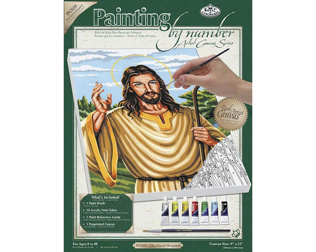 Royal Brush Manufacturing PCS10 PBN Canvas The Good Shepherd 9x12
