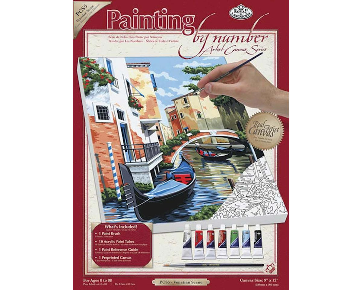 Royal Brush Manufacturing PCS5 PBN Canvas Venetian Scene 9x12