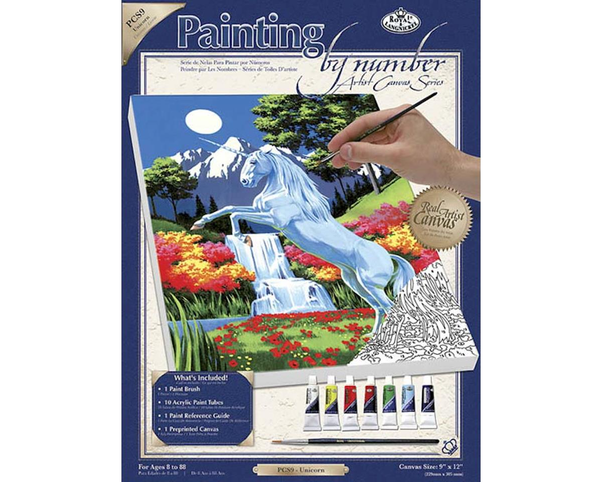 Royal Brush Manufacturing PCS9 PBN Canvas Unicorn 9x12