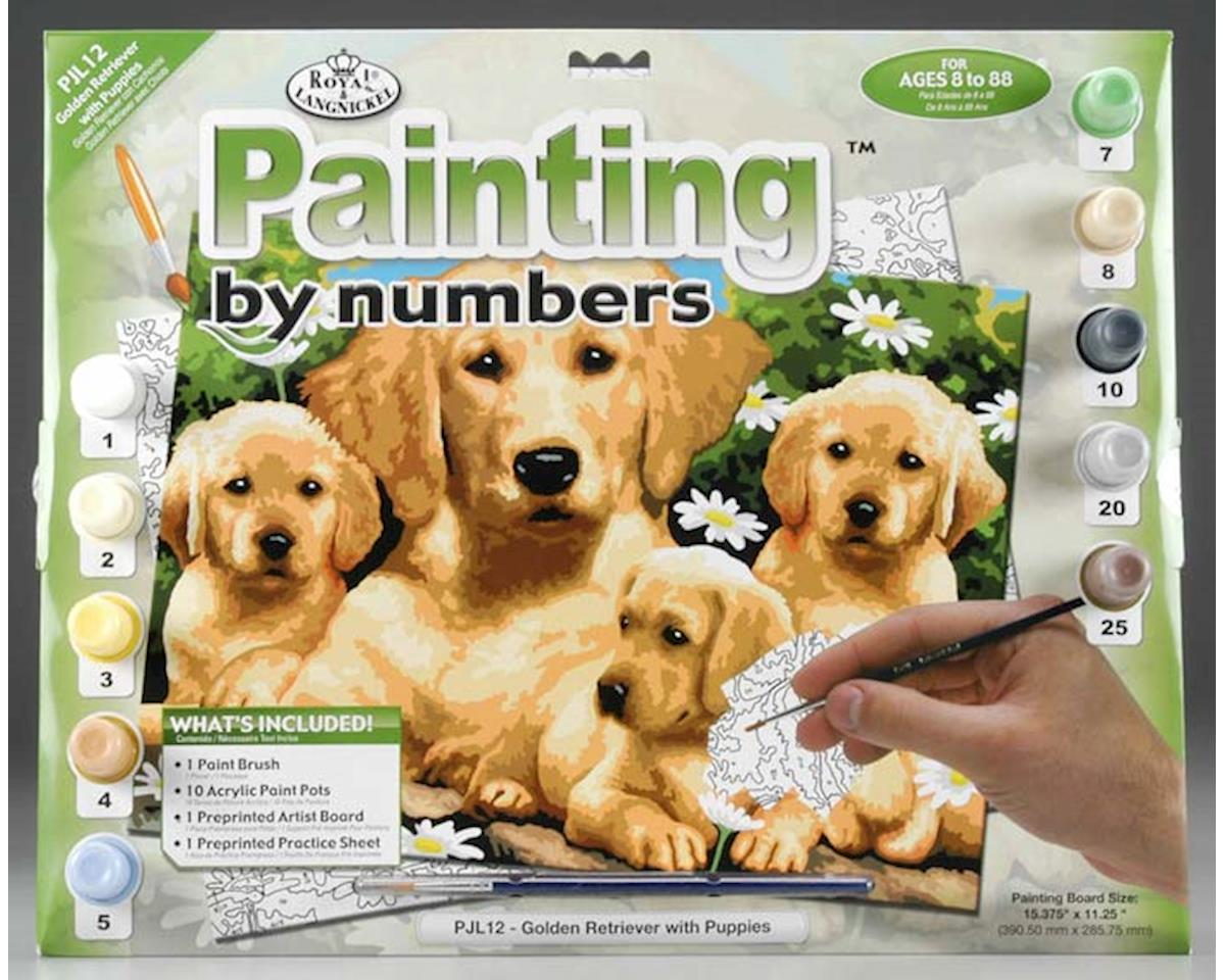 Royal Brush Manufacturing PJL12 Junior PBN Golden Retriever 15x11-1/4