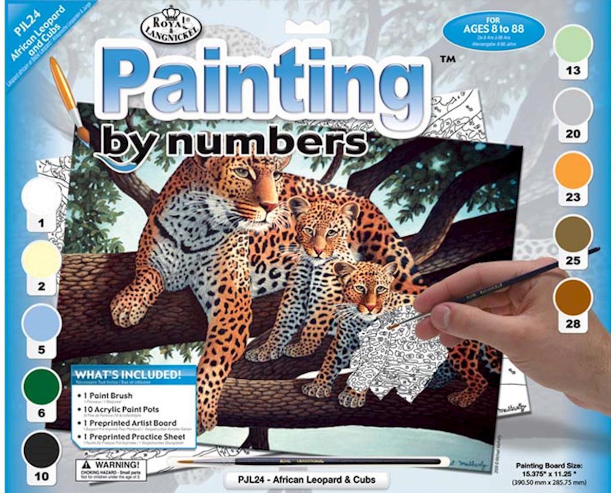Royal Brush Manufacturing PJL24 JR PBN Large African Leopard
