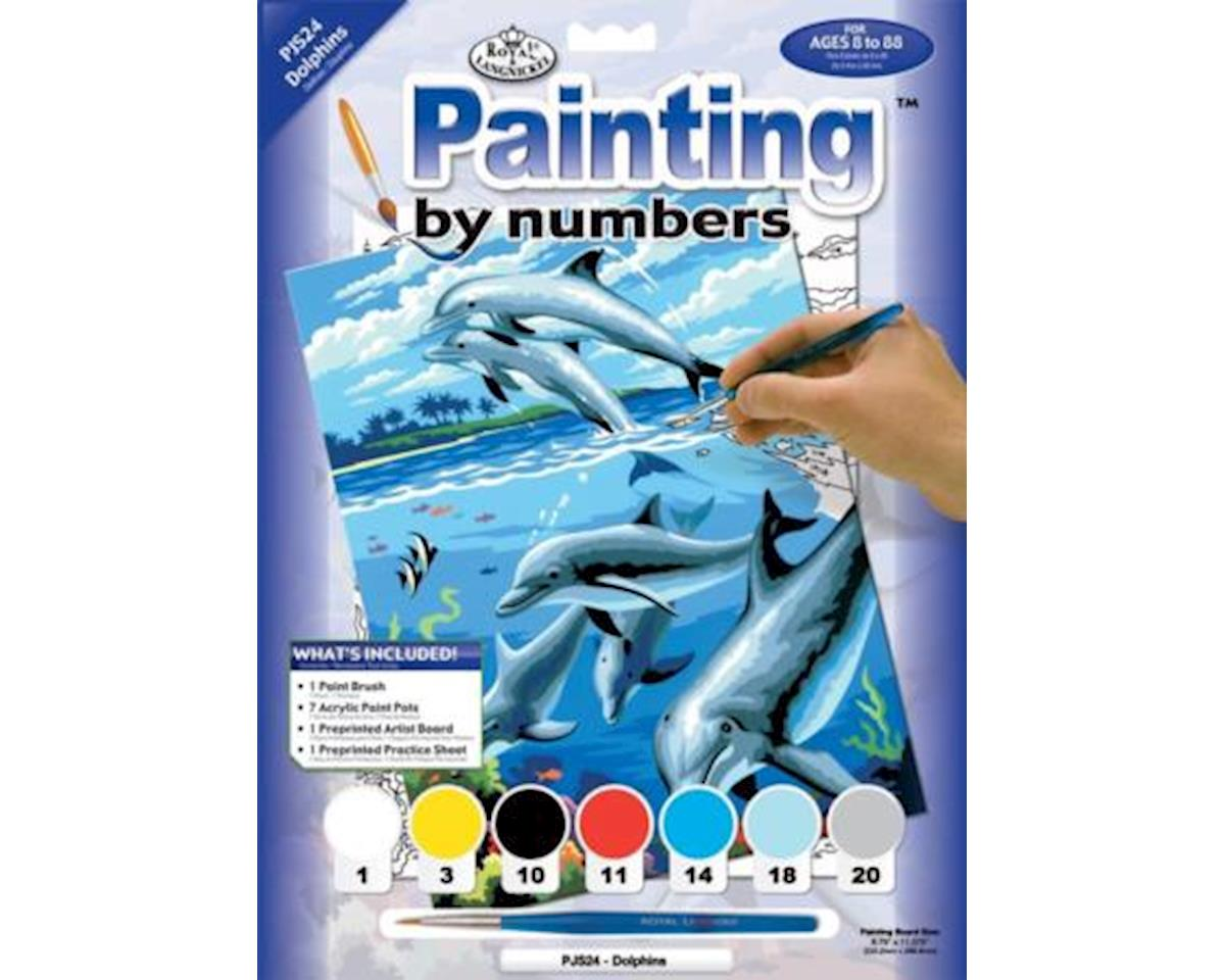 Royal Brush  Junior Paint-By-Numbers Dolphins by Royal Brush Manufacturing