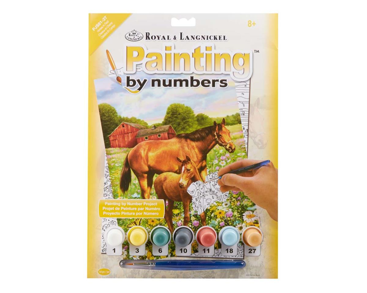 PJS81 PBN JR Small Horses In Field by Royal Brush Manufacturing