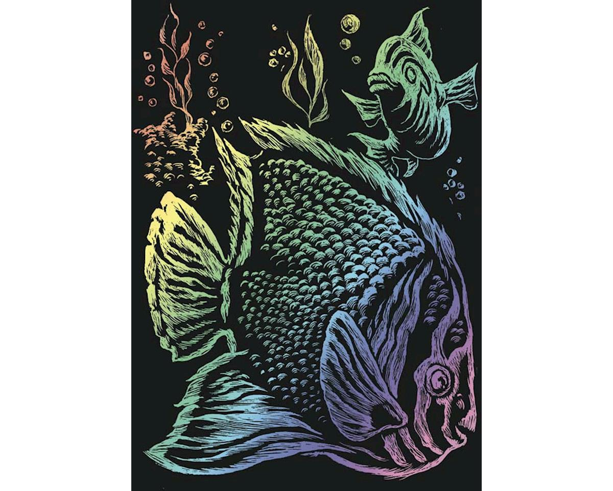 Royal Brush Manufacturing Royal Brush  Rainbow Foil Engraving Art Tropical Fish