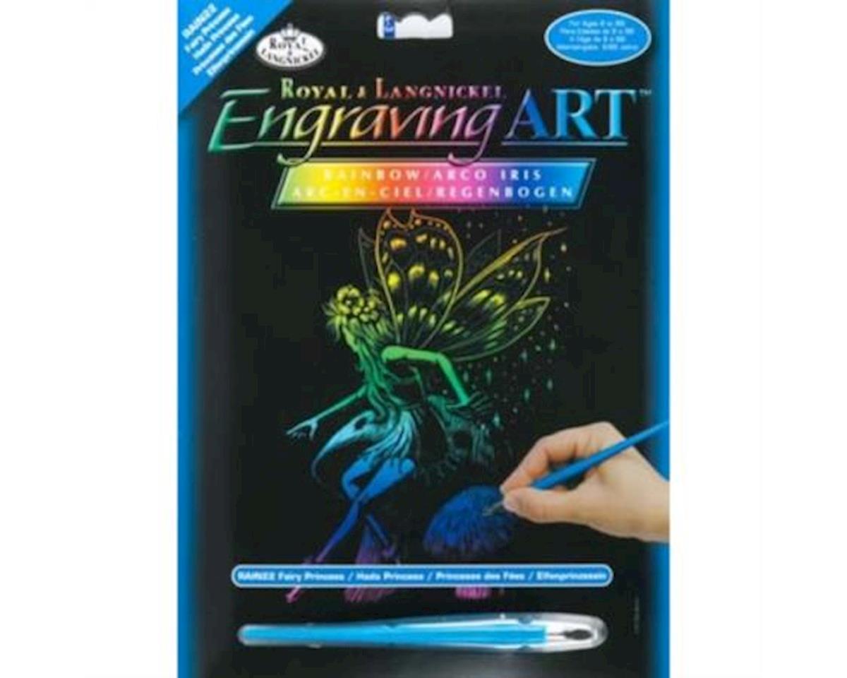 Rainbow Engraving Art Fairy Princess