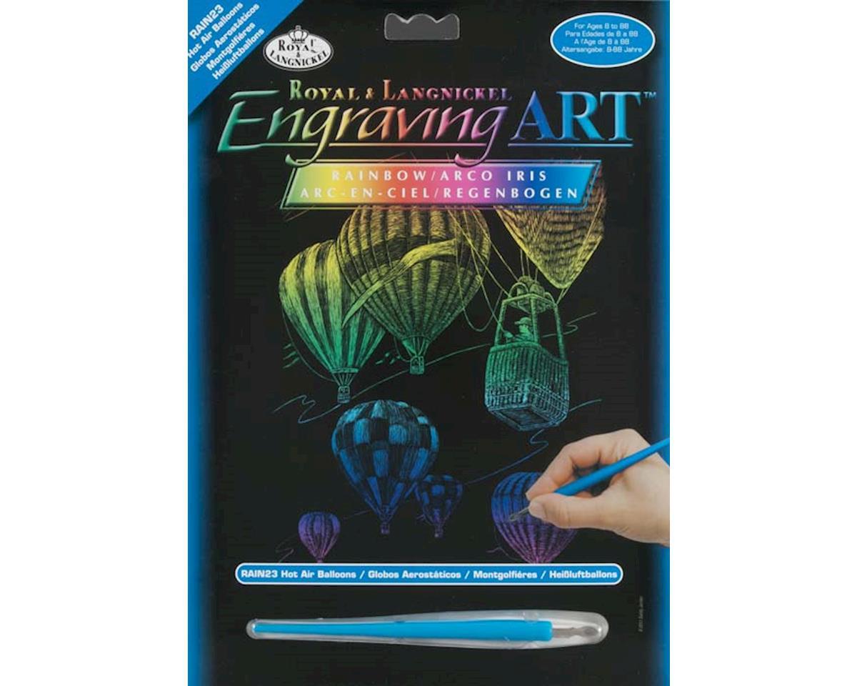 Royal Brush Manufacturing RAIN23 Rainbow Engraving Art Hot Air Balloons