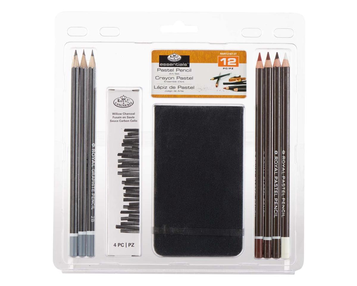 RART-2107 3-Pastel Pencil w/Sketchbook by Royal Brush Manufacturing