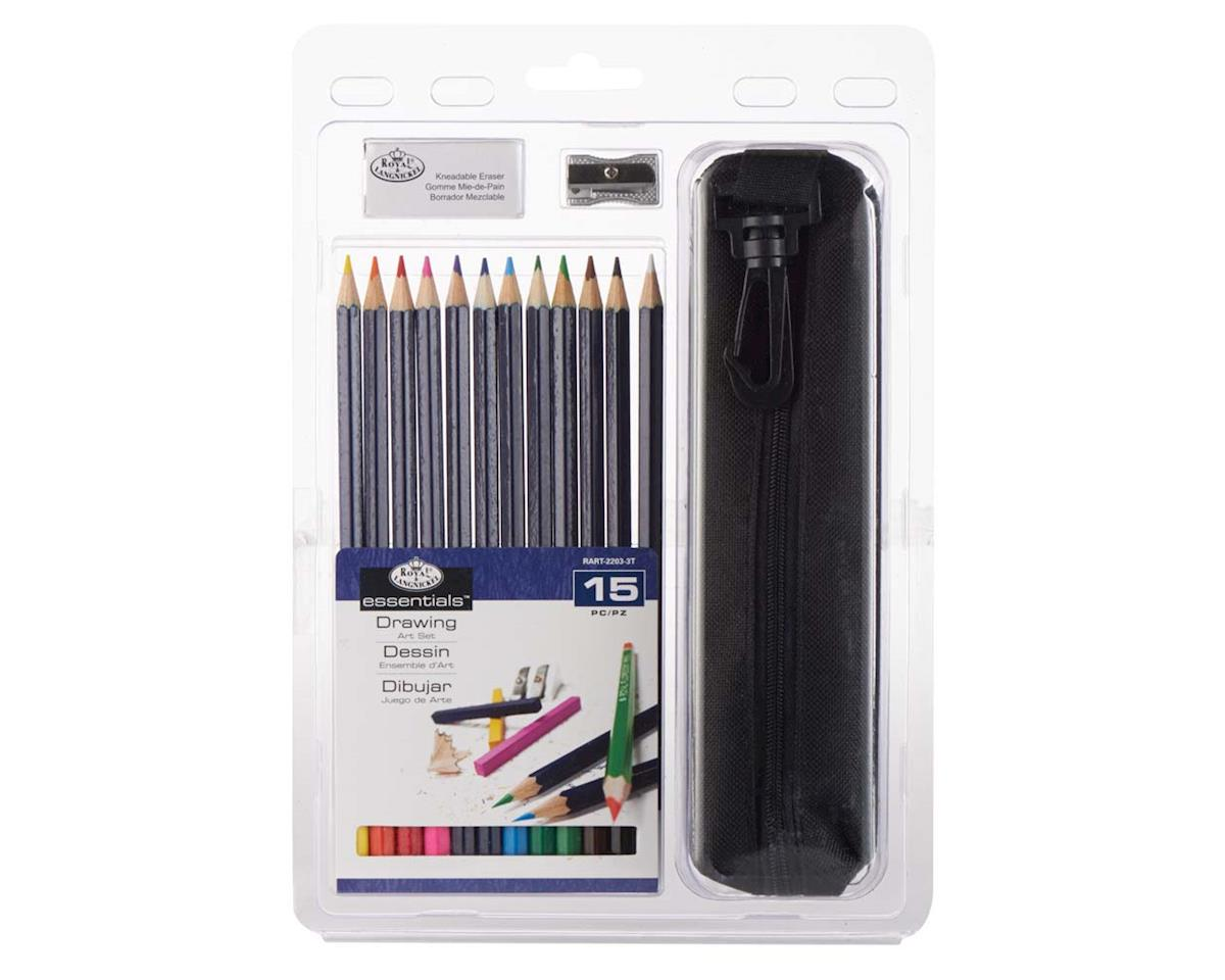RART-2203 15pc Drawing Pencil Clamshell by Royal Brush Manufacturing