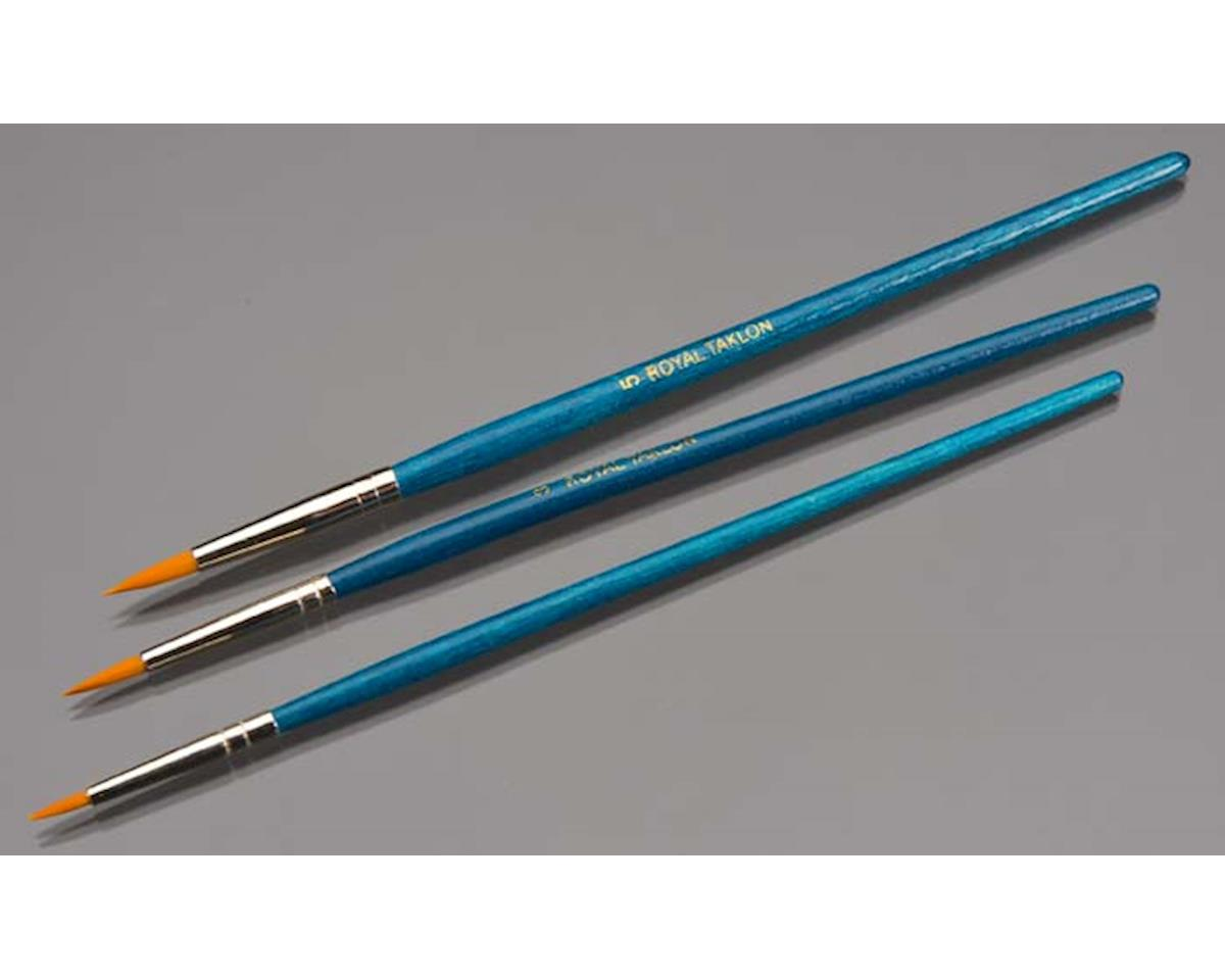 Value Brush Set-3pc Gold Taklon Round Set
