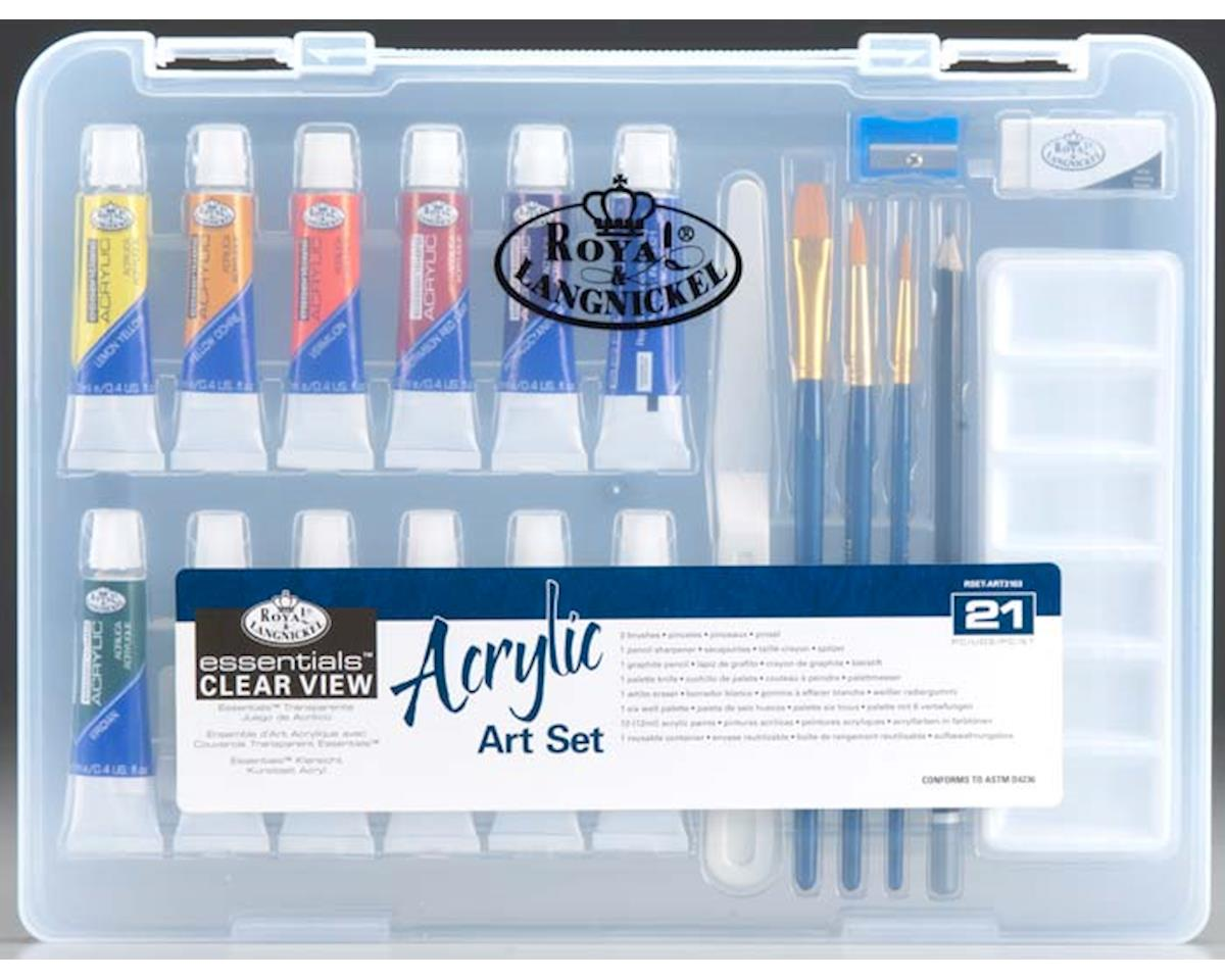 Royal Brush Manufacturing RSET-ART3103 Sm Clear View Acrylic Painting Set