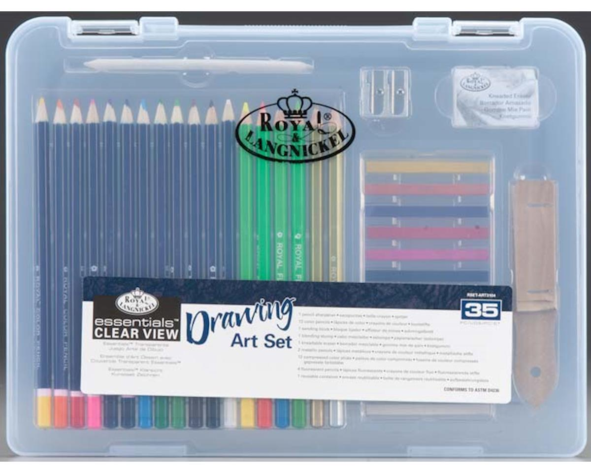 Royal Brush Manufacturing RSET-ART3104 Small Clear View Drawing Set