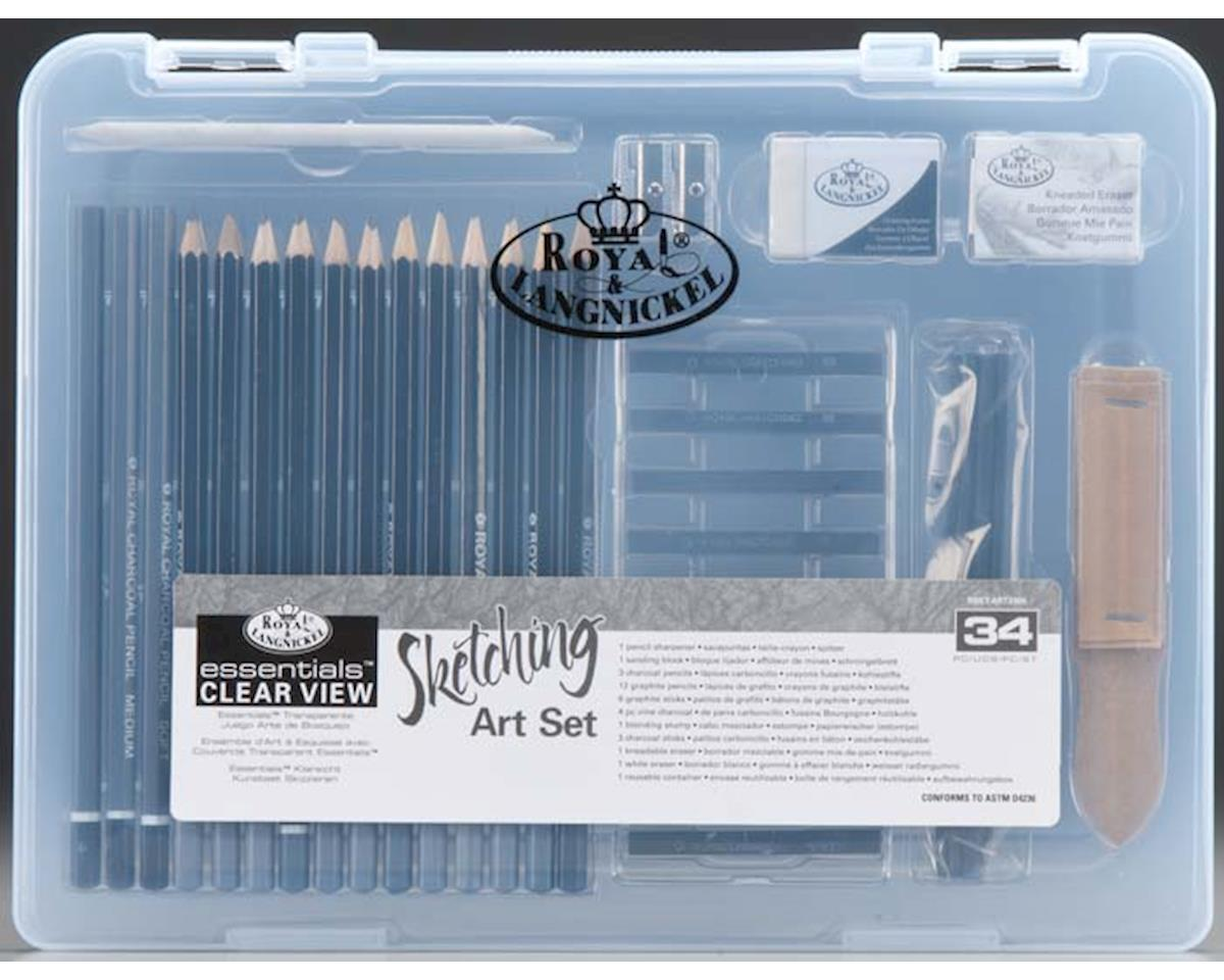 Royal Brush Manufacturing RSET-ART3105 Small Clear View Sketching Set