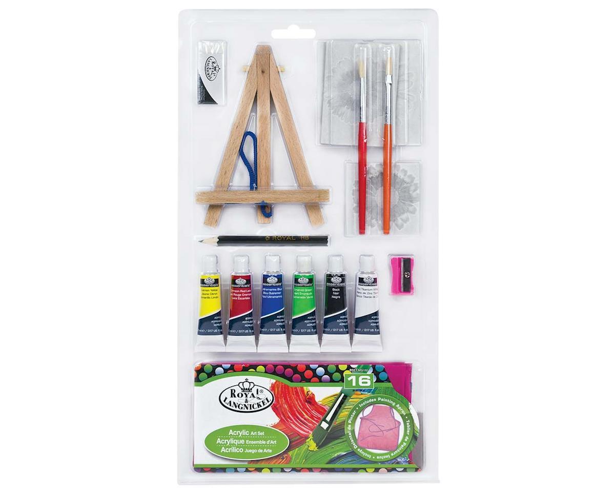 Royal Brush Manufacturing RSET-MS110 16pc Mini Art Set w/Prepainted Canvas