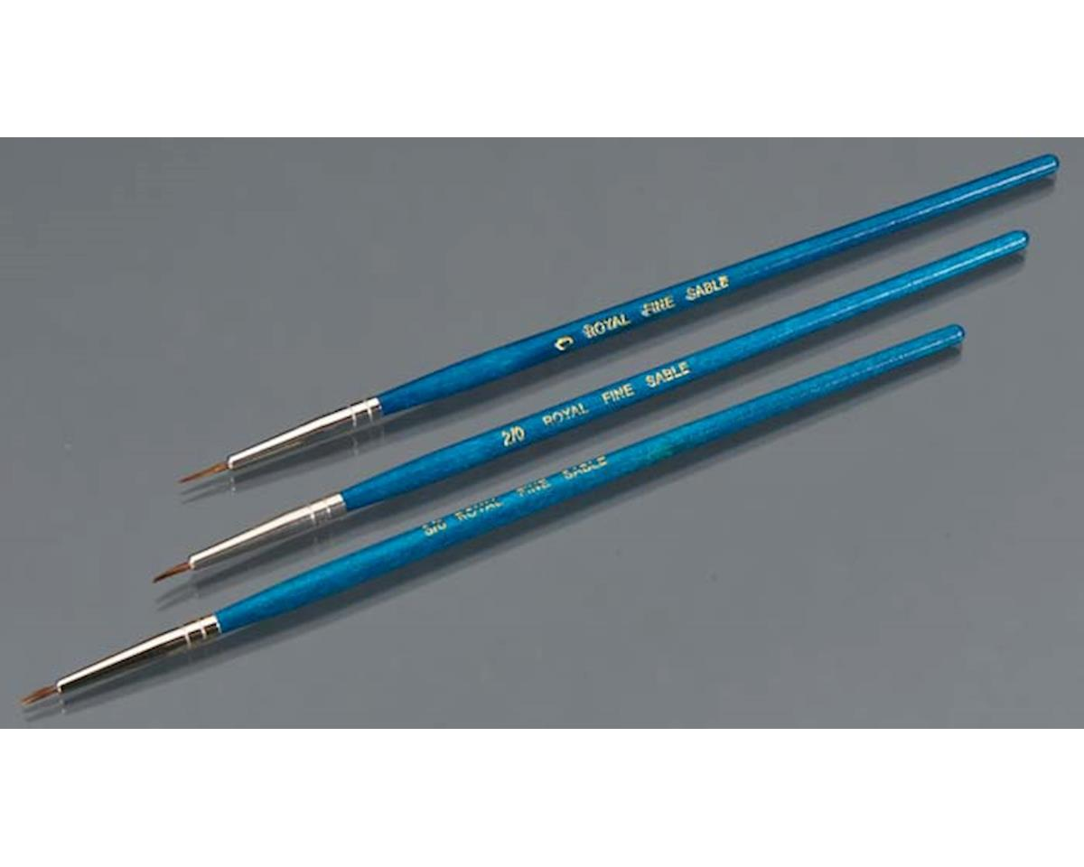 Royal Brush Manufacturing Sable 3/0-2/0-0 (3)