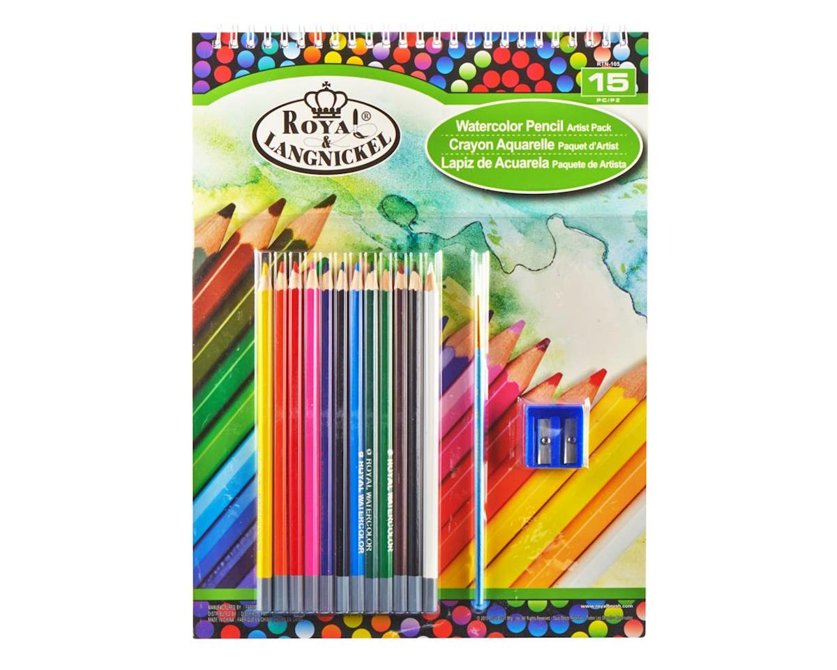 Royal Brush Manufacturing RTN-105 9x12 Watercolor Pencil Pad Set