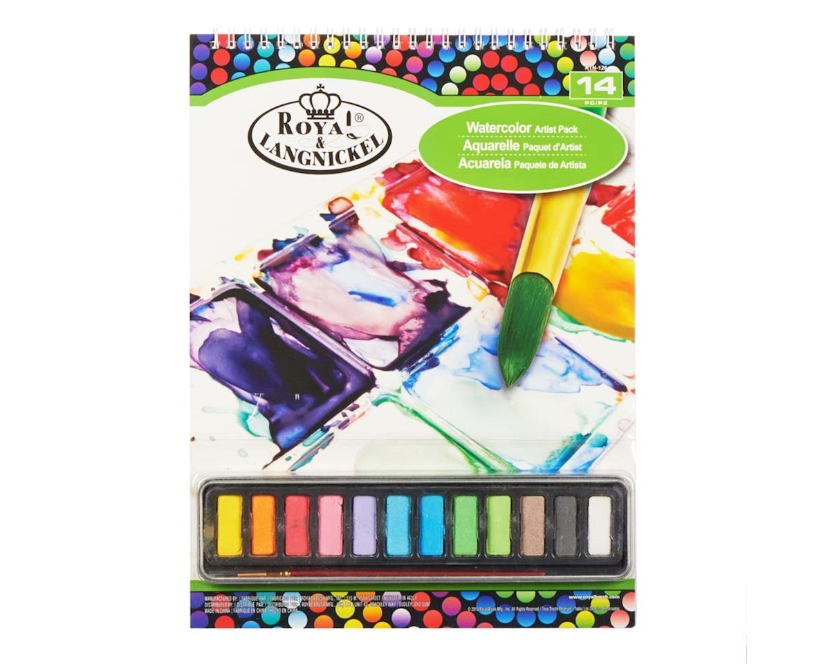Royal Brush Manufacturing RTN-126 9x12 Watercolor Cakes Pad Set