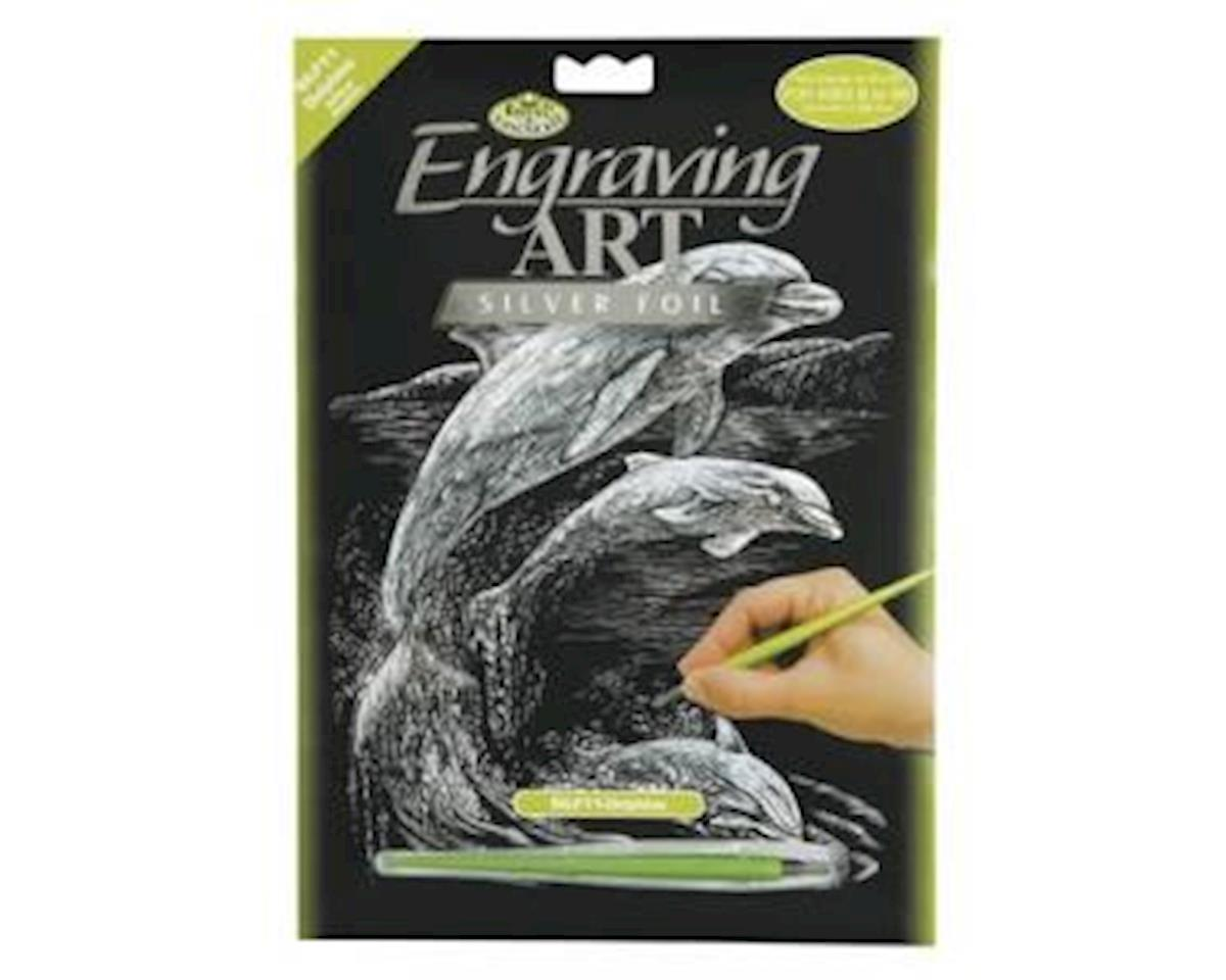 Royal Brush Manufacturing Silver Foil Dolphins