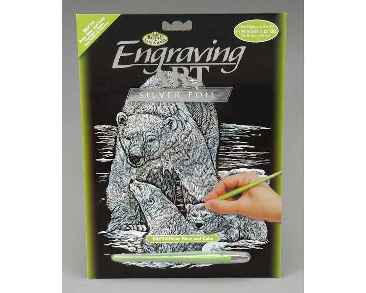 Royal Brush Manufacturing SILF14 Silver Foil Polar Bear & Cubs
