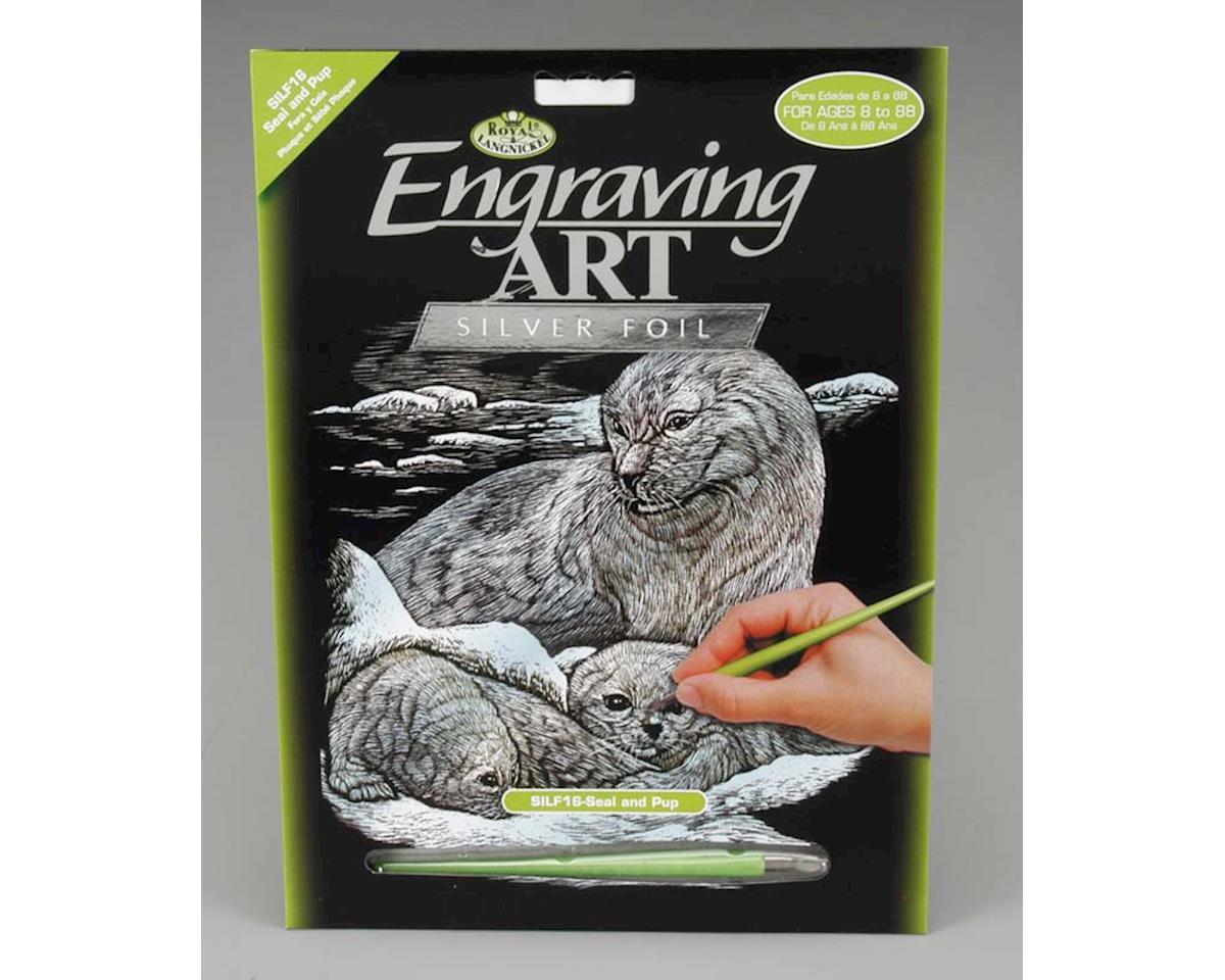 Royal Brush Manufacturing SILF16 Silver Foil Seal/Pup